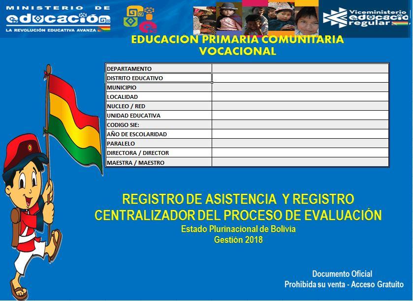 registro de asistencia y centralizador del proceso de evaluación de